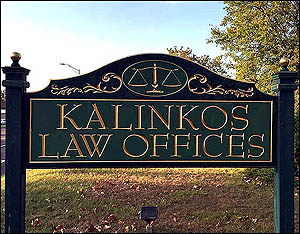 Kalinkos Law Offices - Front Sign